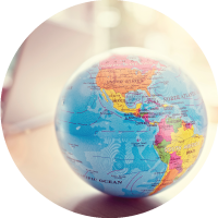 A globe on a table. Bristol maintains relationships with a network of providers around the world, providing us with the ability to choose the best match for each individual move